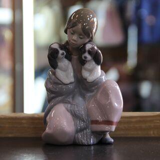 【店頭販売限定】 リヤドロ 置物 「寄りそい」問合わせ番号:11...