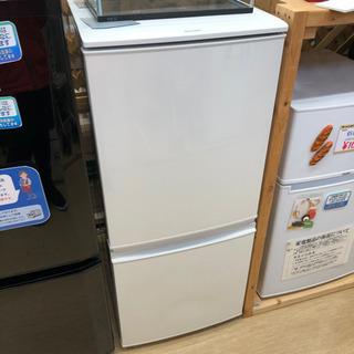 シャープ☆137L2ドア冷蔵庫☆白☆SJ-D14B-W☆2016...