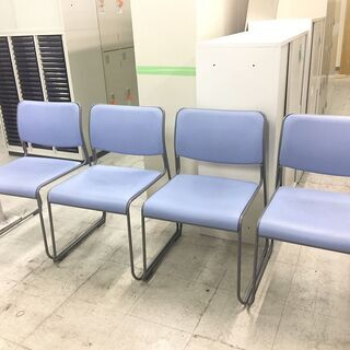 中古 NAIKI スタッキングチェア ミーティングチェア 会議椅...