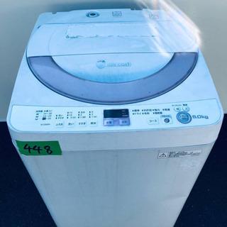 448番 SHARP✨全自動電気洗濯機✨ES-GE60N‼️