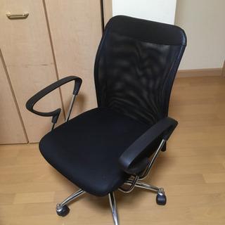 オフィスチェア 肘付き有り メッシュバック 座面の高さ調節可能 椅子