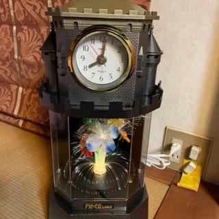 ファイバーライト時計。新品。花が光ります。