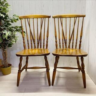 ウィンザーチェア◆椅子◆2脚◆配送設置可能!!