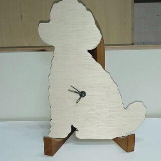 犬 猫 動物 魚 シルエット時計 飾り時計 DIY 工作