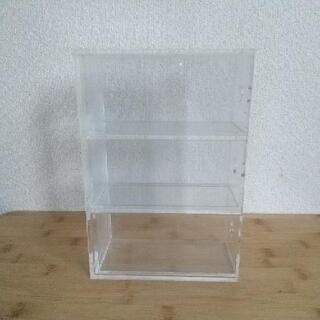 〈無印良品〉アクリル小物収納・3段 - 家具