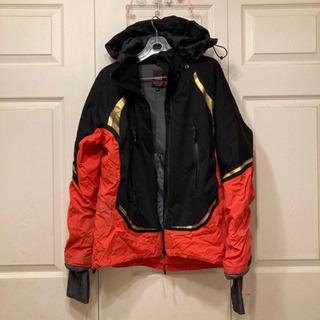破れあり、手袋付きの防水防寒ストレッチジャンパー、釣り&キャンプ用