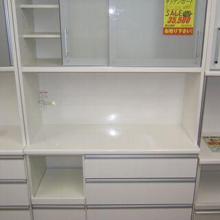 R243 高級松田家具 キッチンボード、食器棚 幅117cm 美品の画像