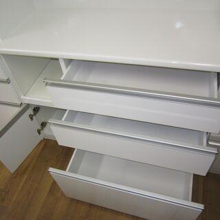 R243 高級松田家具 キッチンボード、食器棚 幅117cm 美品 − 愛知県