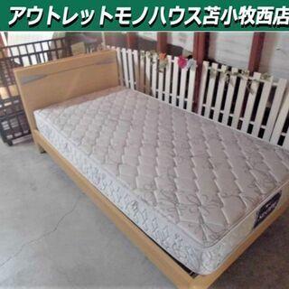シングルベッド マットレス 幅100×奥210×高80cm 木製...