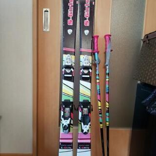 スキー板120cm  スキーストック85cm  ジュニア キッズ