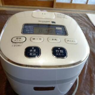 [配達無料][即日配達も可能?]炊飯器 SHARP  三合炊き KS-H5E9  美品の画像