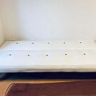 ソファベッド 白  - 家具