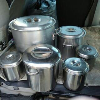 【取引中】調理鍋 まとめて 寸胴鍋 ラーメン 調理器具