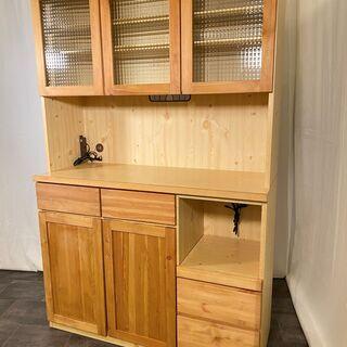 レンジボード 隅木工所 ナチュラル 収納棚 食器棚 カントリー調...