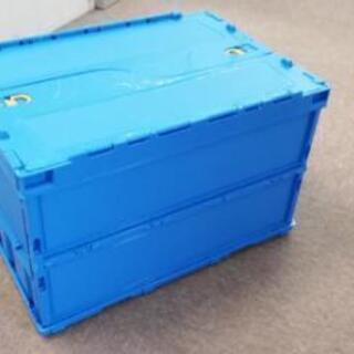 ふたつき折り畳みコンテナ(オリコン)ブルー