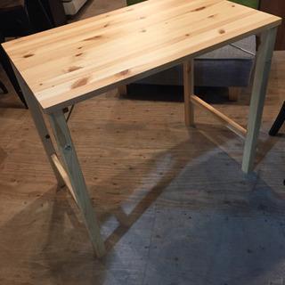 無印良品 折りたたみ式 パイン材 テーブル デスク 美品