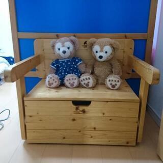 おもちゃ箱、ベンチ、机の3WAY