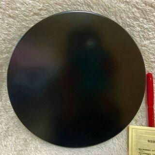 ★箱入り未使用!!直径24㎝・天然木の漆のお盆「高級美術漆器」★ - 萩市