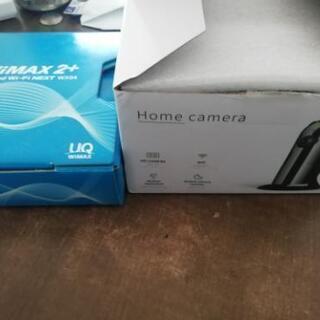 【ネット決済・配送可】ホームカメラ、ワイモバイル本体セット