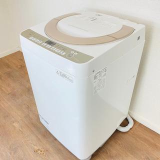 送料無料 美品 SHARP シャープ 7.0㎏ 全自動洗濯…