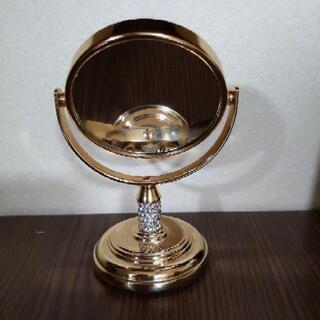 鏡 拡大鏡つき ゴールド