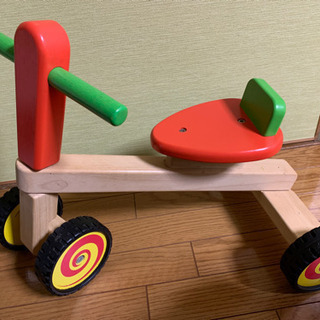 木製 三輪車