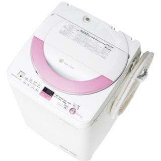 【ネット決済】SHARP 洗濯機 ES-GE60N-P 6.0k...