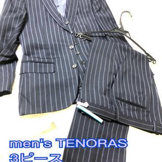 men'sTENORASメンズティノラス 3ピース スーツ ネイ...