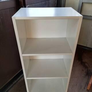 【012101】カラーボックス 棚 白 ホワイト 幅44㎝…