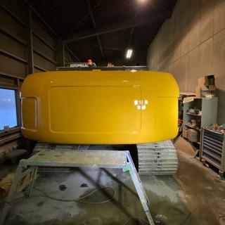 重機トラックの板金塗装