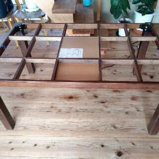 [配達無料][即日配達も可能?]家具調コタツ ハイタイプ 長方形ダイニングコタツ サンコウ製 なごみⅡ 135BR  稼動品 - 名古屋市