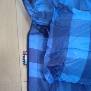 『値下げ』【引き取り希望】AIPine  DESGN  封筒型寝袋『枕付』 青チェック柄 - スポーツ