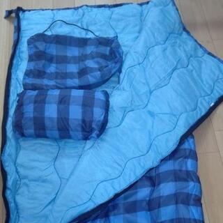 『値下げ』【引き取り希望】AIPine  DESGN  封筒型寝袋『枕付』 青チェック柄 - 下関市