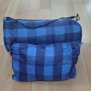 『値下げ』【引き取り希望】AIPine  DESGN  封筒型寝袋『枕付』 青チェック柄 - 売ります・あげます