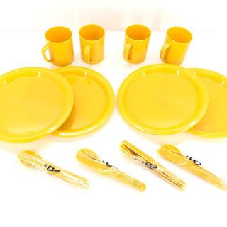 未使用 アウトドア 食器セット プラスチック キャンプ レジャー