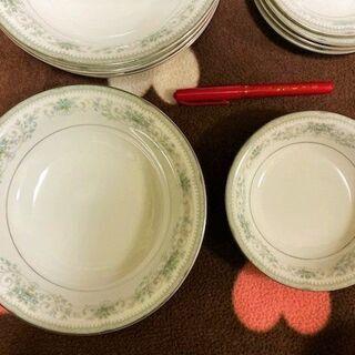 ★美品~USED・11枚セット!!「ノリタケ」COLBURNの大皿&スープ皿&中皿★ - 萩市