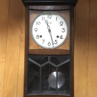レトロ 手巻き 掛け時計 アンティーク