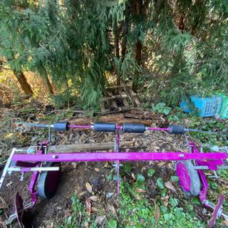 ササオカ トラクター用台形畝立てマルチ あとからだい作くん