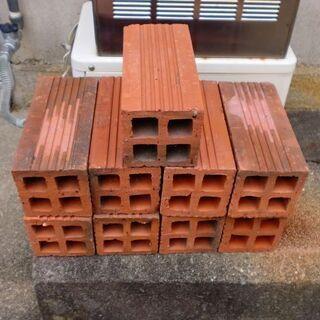 赤色 長方形のブロック 9個 中古