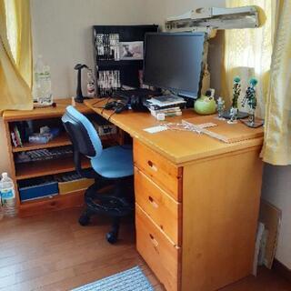 【お取引中】システム家具 デスク、椅子、棚、ベッド、タンス