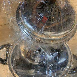 【決まりました】アートシール Art seal 未使用  鍋 2個セット 両手鍋 - 大阪市