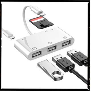 【ネット決済・配送可】iPhone USB 変換 アダプタ カメ...