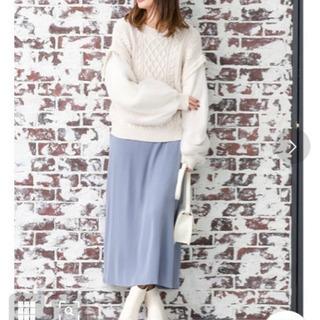 【新品】スモークカラーとろみロングスカート