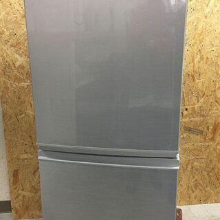 中古美品☆SHARP 冷蔵庫 2017年製 137L シル…
