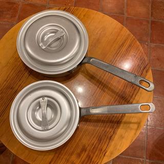 浅型片手鍋 (2個セット)蓋付き