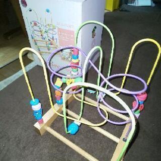 Wooden toys くねくねラージ(海)