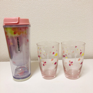 スターバックスの桜シリーズペアグラスとタンブラー