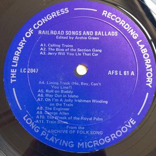 Railroad Songs & Ballads LP レコード - 本/CD/DVD