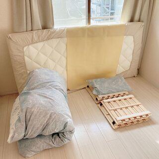 【無料】羽毛布団&敷布団&すのこ&除湿シート&枕セット