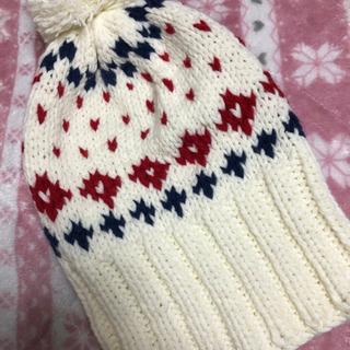 新品 ニット帽 ホワイト